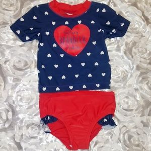 NWOT Carter's size 9mo two-piece bathing suit